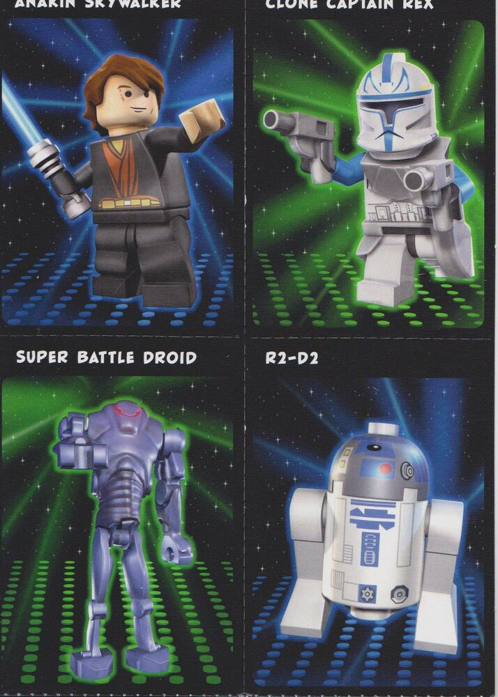 2011 Lego Star Wars Birthday Card With 12 Perferated Trading Cards