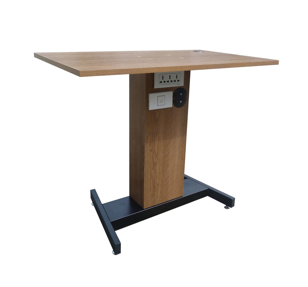 Adjustable Height Sit Stand Table Desk Workstation Computer Stand