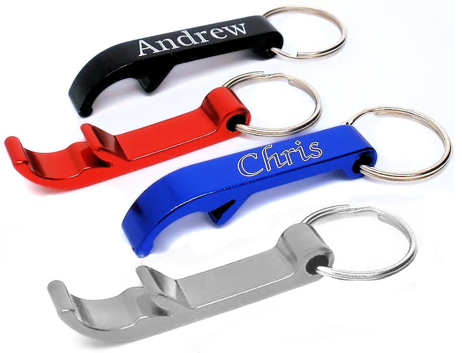 personalised light weight anodised claw bottle opener keyring gift engraved ebay. Black Bedroom Furniture Sets. Home Design Ideas
