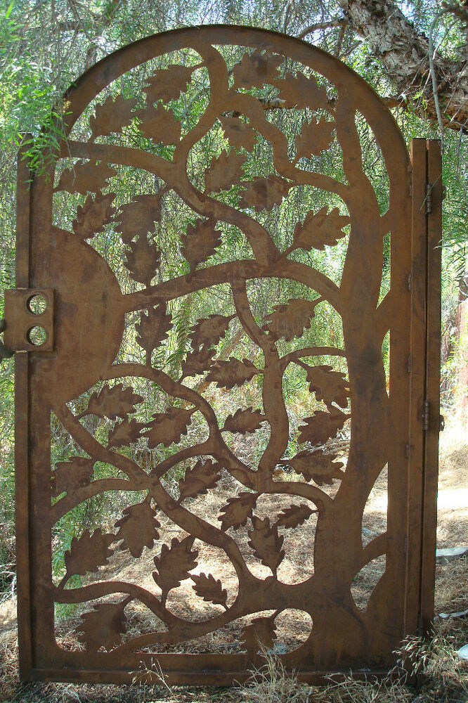 Metal Art Leaf Gate Custom Steel Wrought Iron Rust Iron