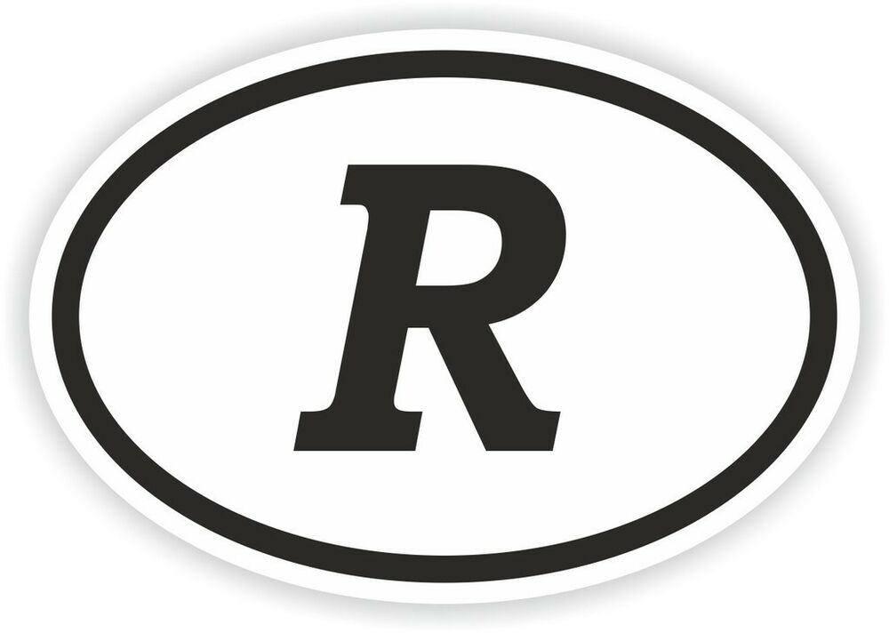 r alphabet letter oval sticker bumper decal car motocross With oval stickers with letters
