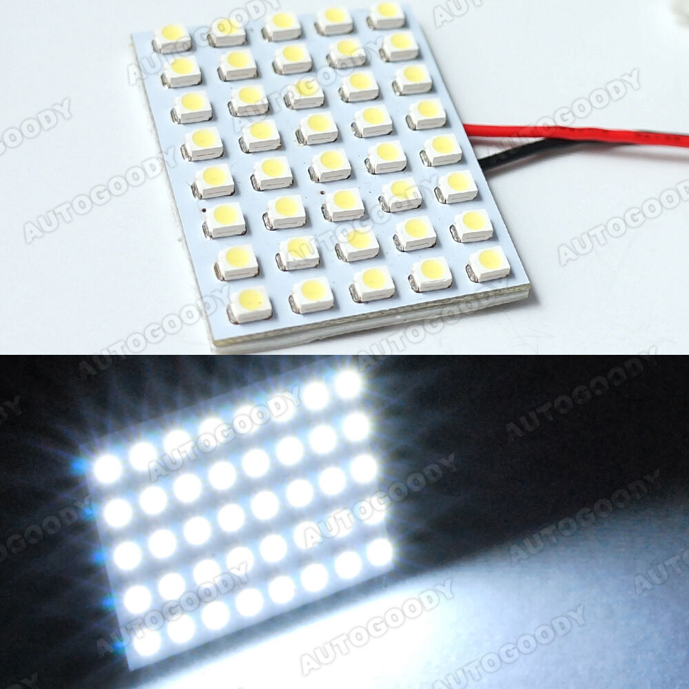 1x White Led Panel 40 Smd Dome Map Door Light Super Bright 41 Ebay