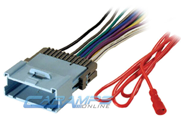 Aftermarket Radio Wiring Harness Adapter : New car stereo cd player wiring harness wire adapter plug