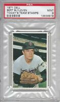 1971 Dell Today's Team Stamps Bert Blyleven (His Rarest Rookie) PSA 9