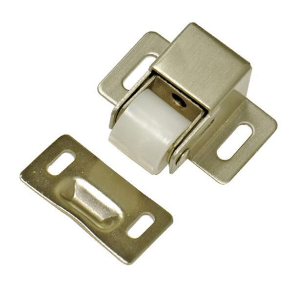 Roller Catch Cabinet Door Latch Satin Nickel