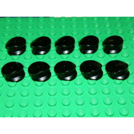img-LEGO 10 x BLACK CAP HAT POLICEMAN 3624 ACCESSORIES FOR MINI PEOPLE/MINIFIGURES
