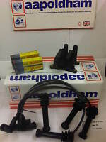 FORD FIESTA 1.4 1.6 16v 99-04 IGNITION COIL PACK HT PLUG LEADS SET & SPARK PLUGS