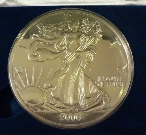2000 1 2 Troy Pound 999 Fine Silver American Eagle Design Proof Round Ebay