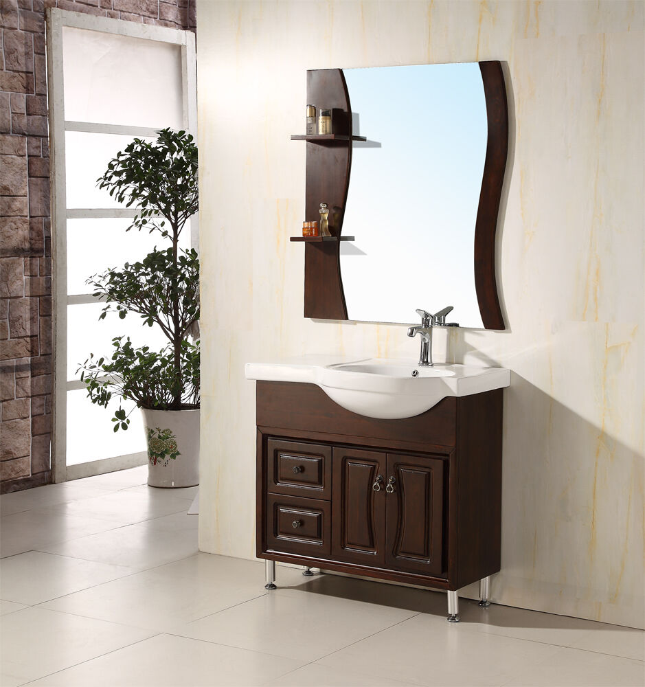 36 Solid Wood Modern Contemporary Design Bathroom Vanity Cabinet With