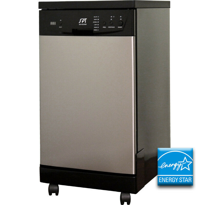 18 stainless steel portable dishwasher compact