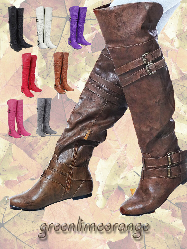 Flat Over The Knee Boots | eBay