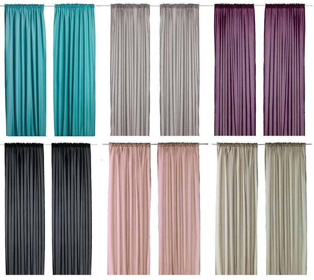 Ikea vivan pair of curtains 2 panels purple turquoise for Cortinas de salon ikea