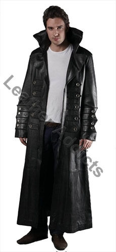 Sexy Mens Sexy Real Black Leather Gothic Steampunk Matrix