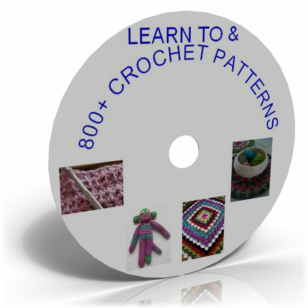 LEARN HOW TO CROCHET GUIDE AND 800 PATTERNS CD , CRAFT ...