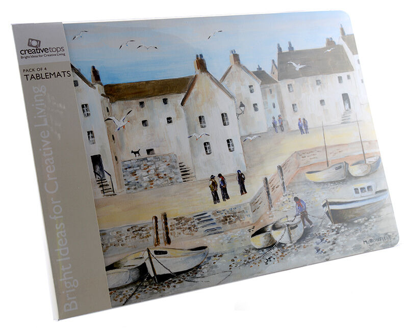 Set Of 4 Cornish Harbour Extra Large Placemats Table Mats