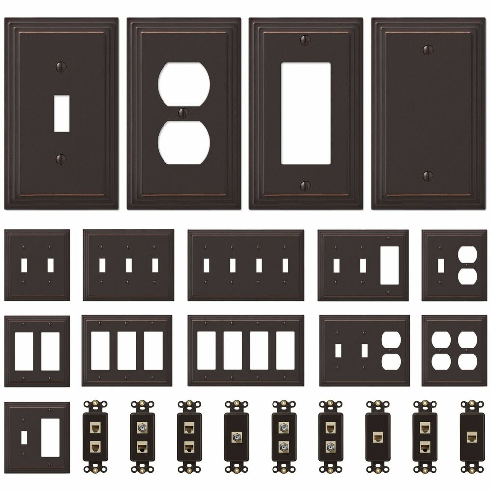 New Switch Plate Gfi Outlet Cover Wall Rocker Oil Rubbed