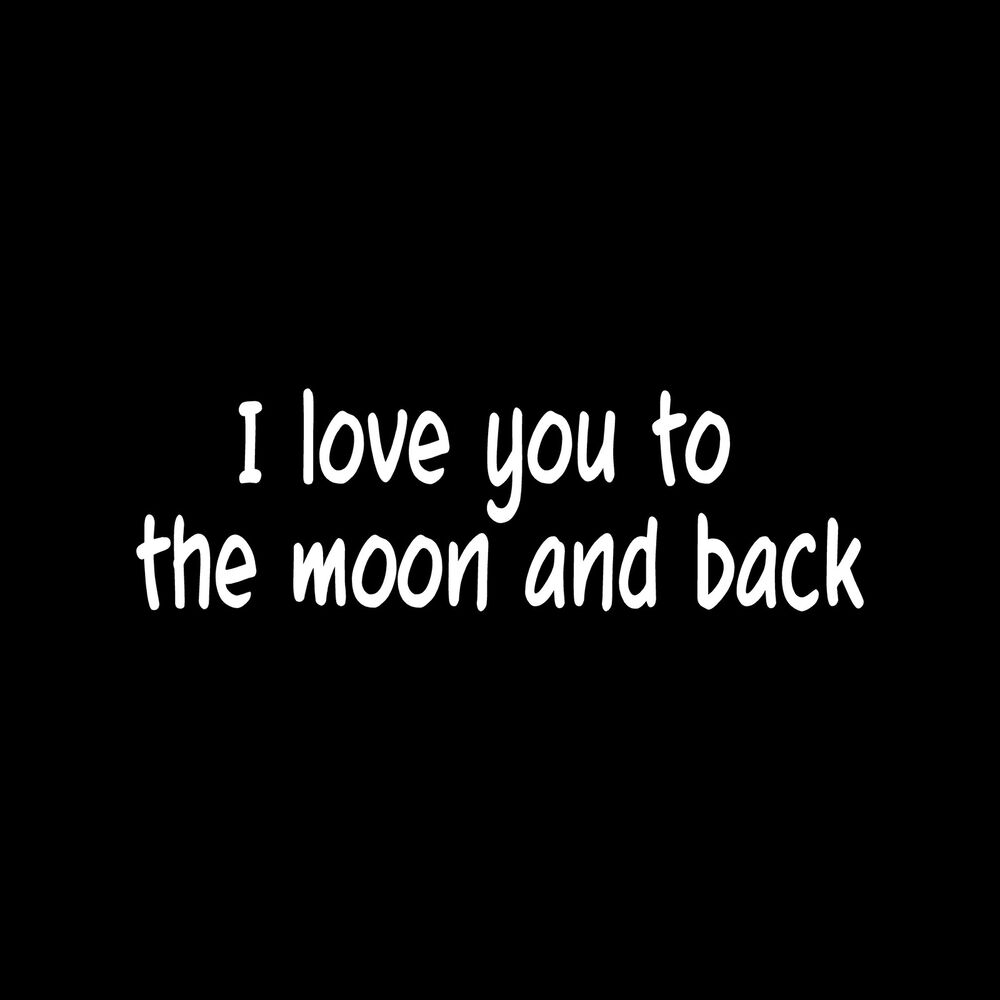 i love you to the moon and back sticker cute vinyl decal. Black Bedroom Furniture Sets. Home Design Ideas