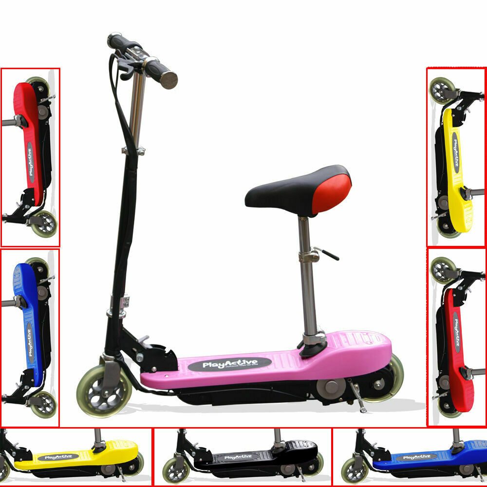 kids electric e scooters 120w 24v battery ride on childrens scooter ebay. Black Bedroom Furniture Sets. Home Design Ideas