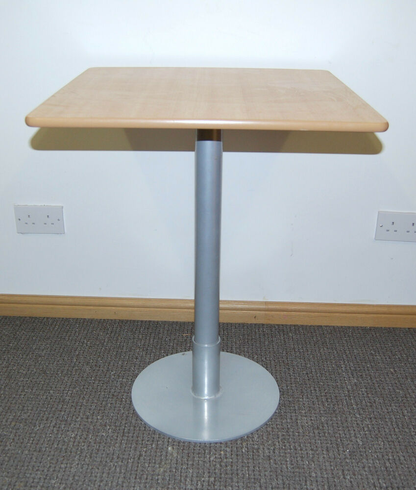 Restaurant table kitchen table bar cafe table table with metal base ebay - Kitchen table bases ...