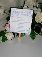 10 Personalised Wedding Fan Programs / Order of Services / Order of the Day