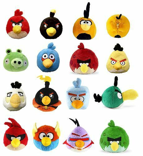 Official angry bird soft toys original rio bird space bird new assortment ebay - Angry birds toys ebay ...