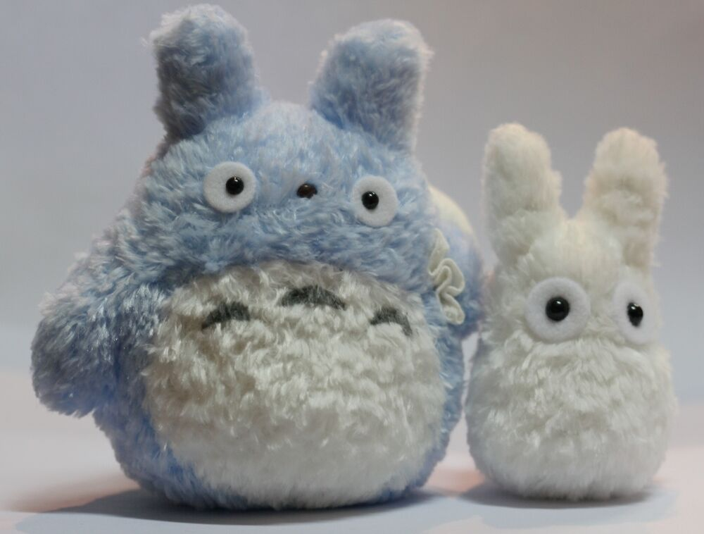 TOTORO ANIME PLUSH SOFT TOY Blue+white X2PCS | eBay