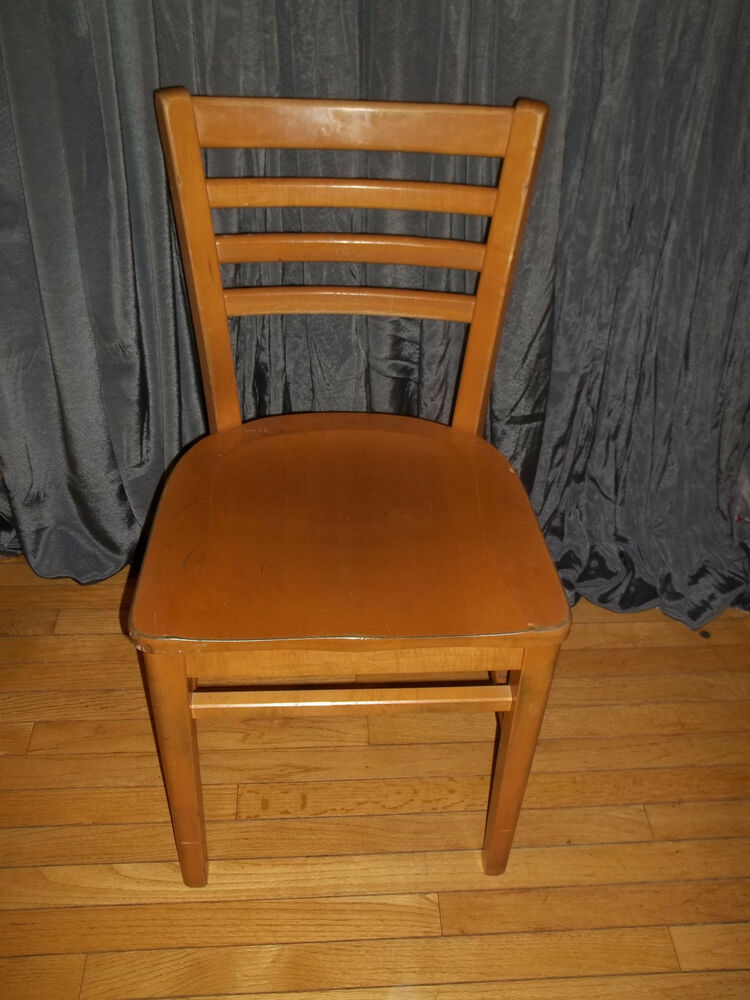Vintage 1968 Buckstaff Wood Ladder Back Chair School