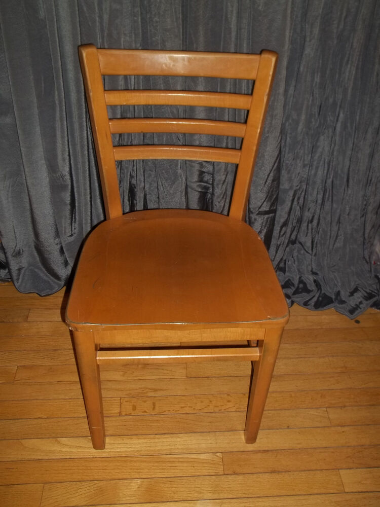 Vintage 1968 buckstaff wood ladder back chair school Ladder back chairs