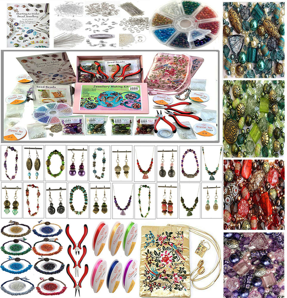 Deluxe Adults Jewellery Making Beads Mix Pliers Findings