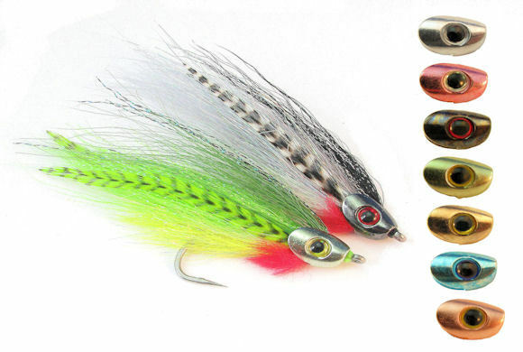 Fish skull medium weighted heads streamer flies 7 colors for Flymen fishing company