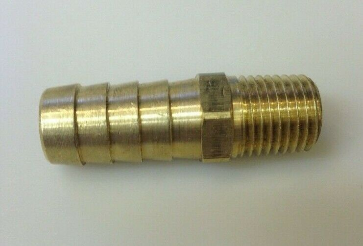 Brass fitting quot hose barb npt solid