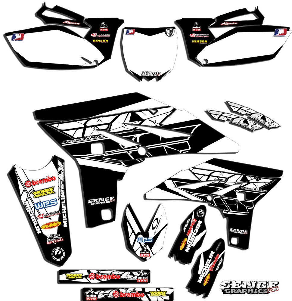 2010 2011 2012 2013 yz 250f graphics kit yz250f yamaha for Sticker deco