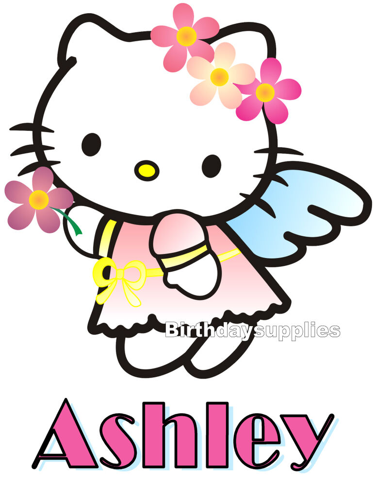 new custom personalized hello kitty t shirt party favor. Black Bedroom Furniture Sets. Home Design Ideas