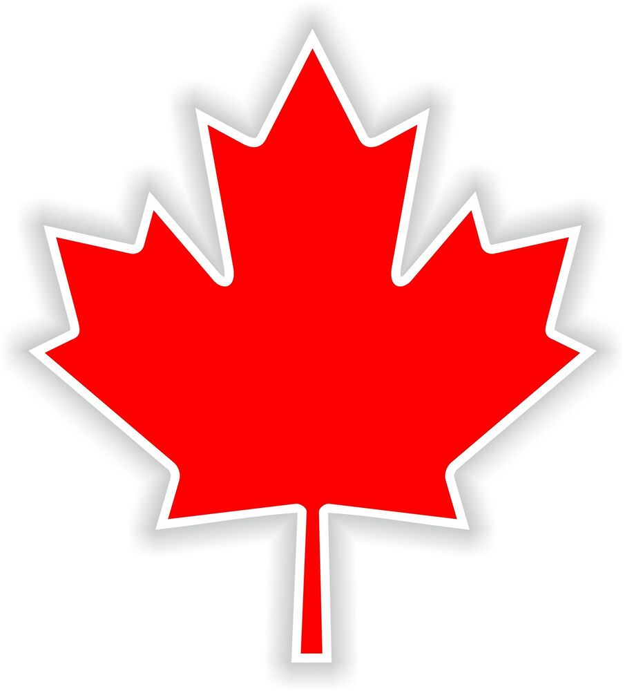 1x Canada Maple Leaf Feuille Erable Vinyl Sticker Decal