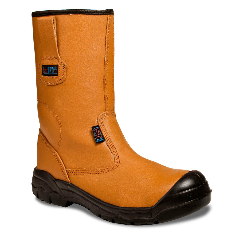Mens Lined Rigger Boot Plus Steel Toe Cap Safety Work