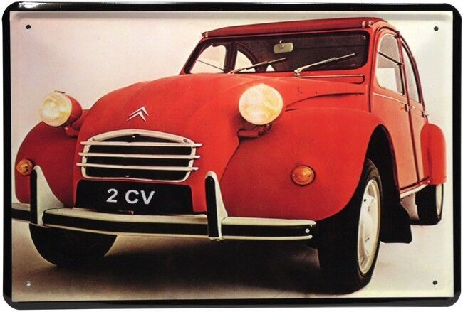 citroen 2cv ente auto car 20 x 30 cm reklame retro blechschild 157 ebay. Black Bedroom Furniture Sets. Home Design Ideas