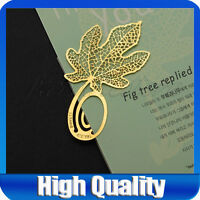 New Maple leaf Golden Mini Clip Reading Bookmark Charm Gift Book Mark Xmas Gift