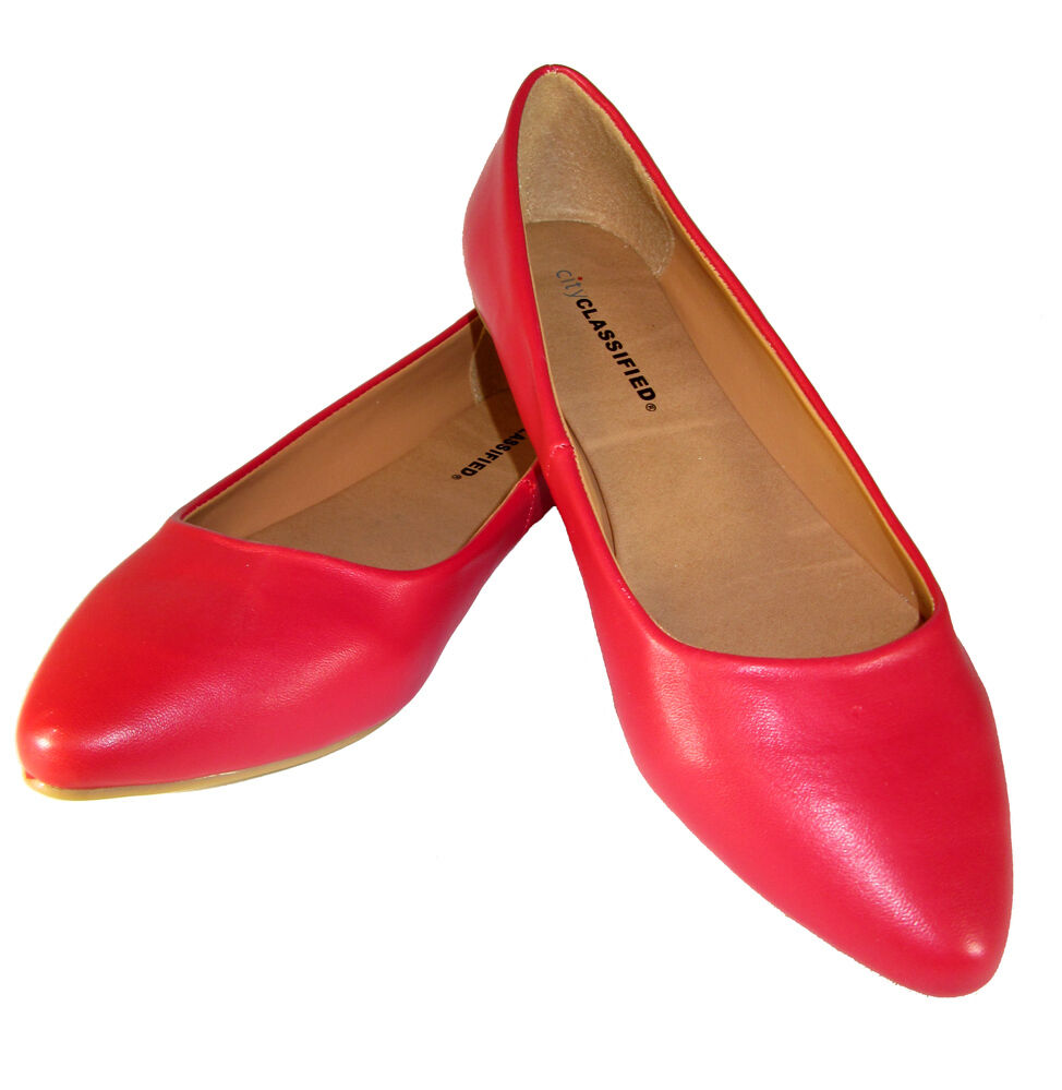 Comfy Flat Red Shoes