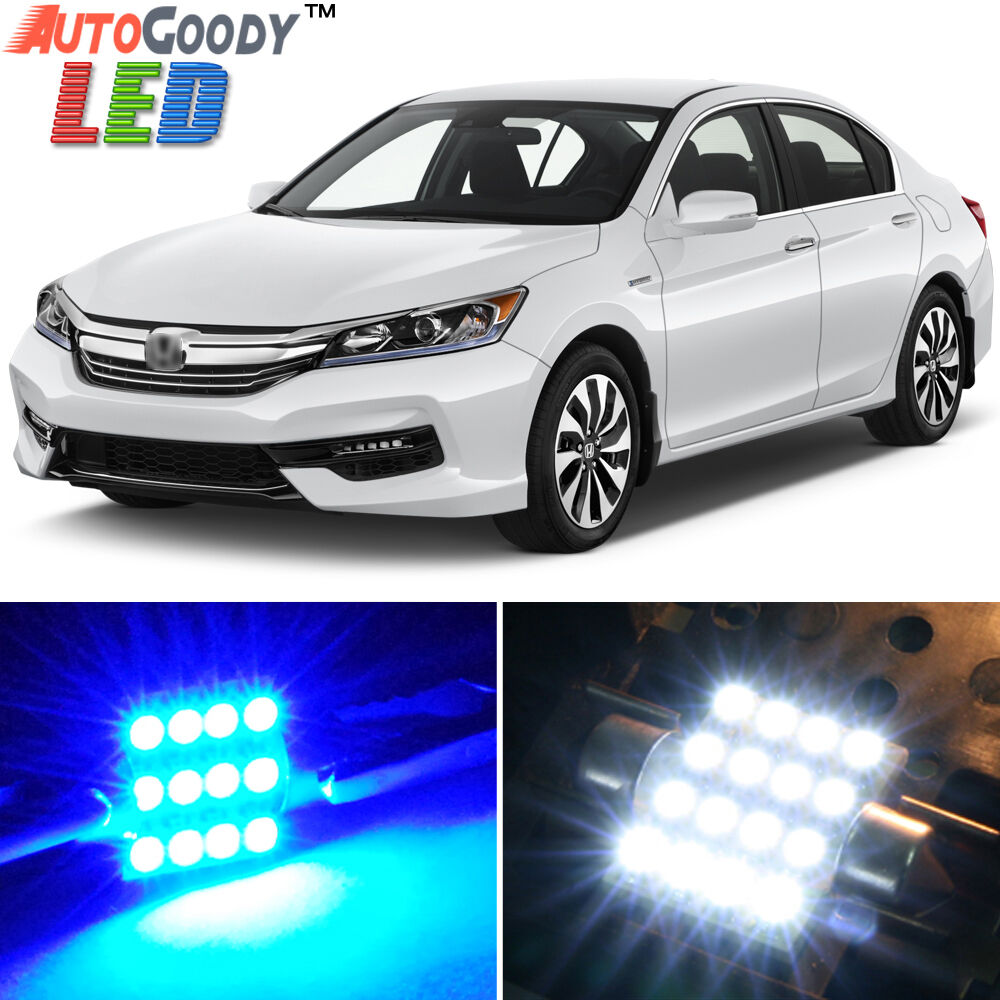14 x premium blue led lights interior package kit for honda accord ebay. Black Bedroom Furniture Sets. Home Design Ideas
