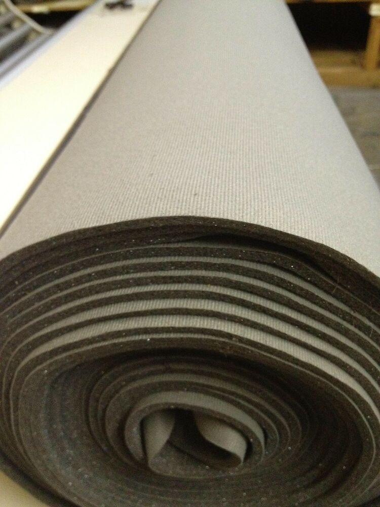 Auto Headliner Upholstery Fabric With Foam Backing 120 X 60 Light Charcoal Ebay