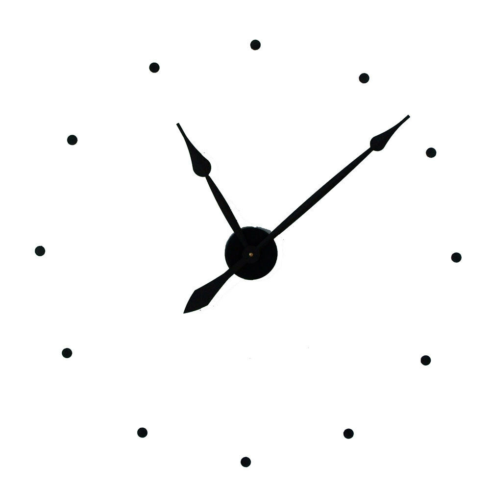 Large wall clock 29quot with hands motor cover dots ebay for Large wall clock hands only