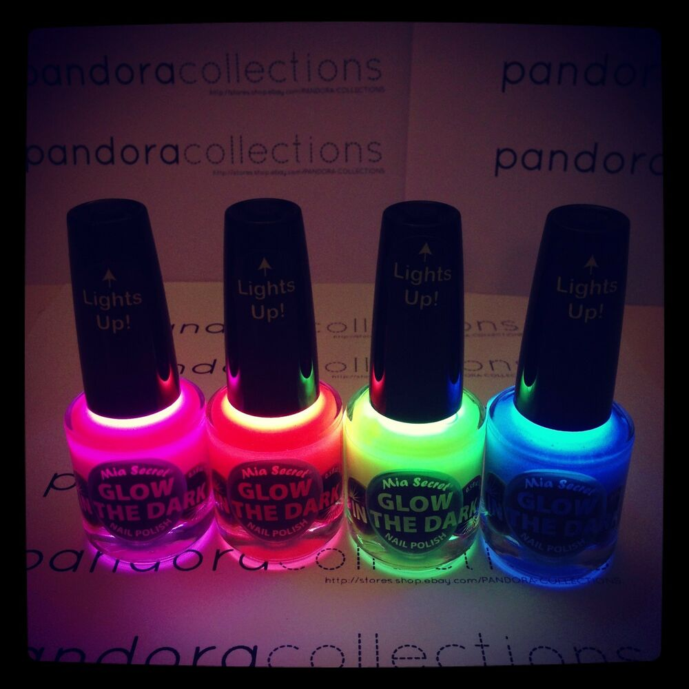 Black Nail Polish Ebay: Mia Secret Glow In The Dark Nail Polish *Pick 1 Color