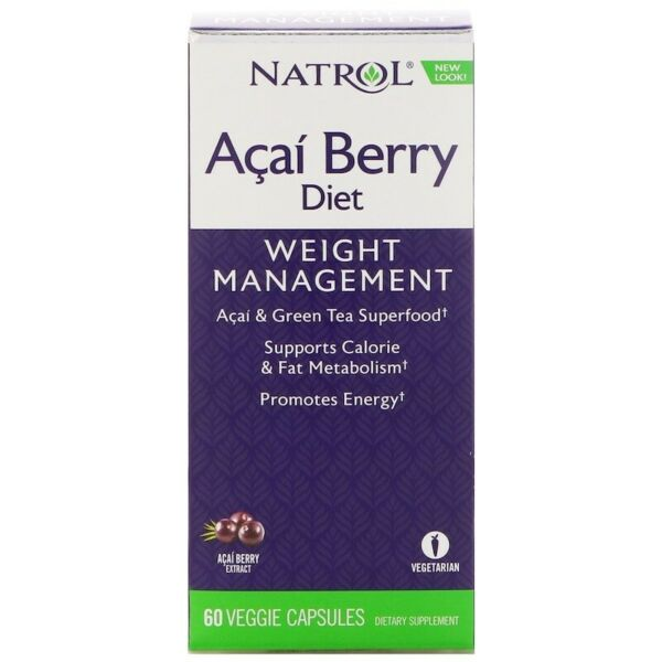 Natrol ACAI Berry Diet inc EGCg Green Tea - AMAZING FOR WEIGHT LOSS!, x60Vcaps