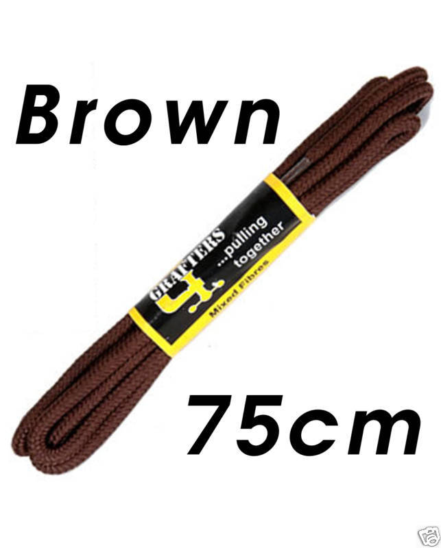 new strong shoe boot laces brown 75cm ebay