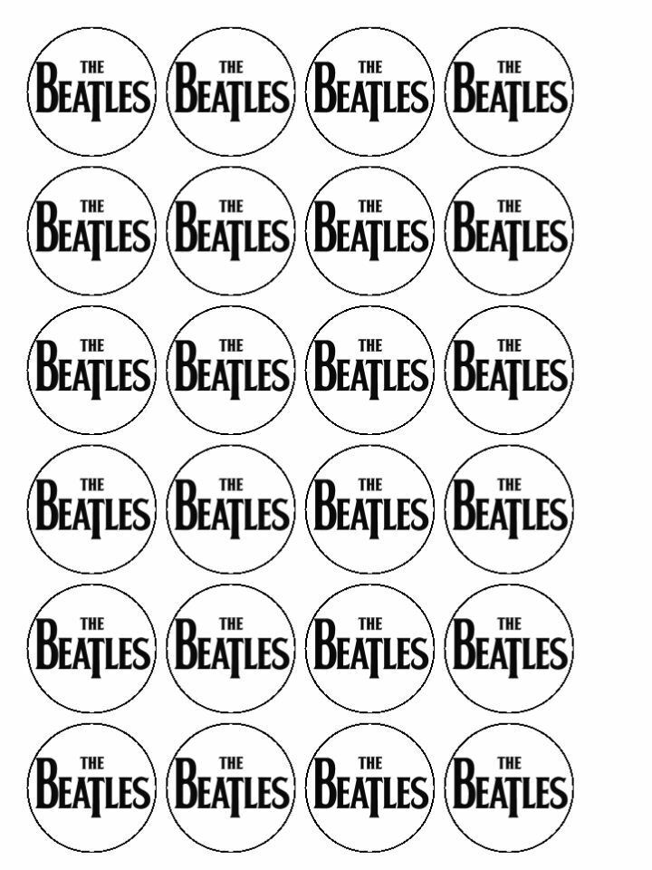 Beatles Birthday Cake Toppers