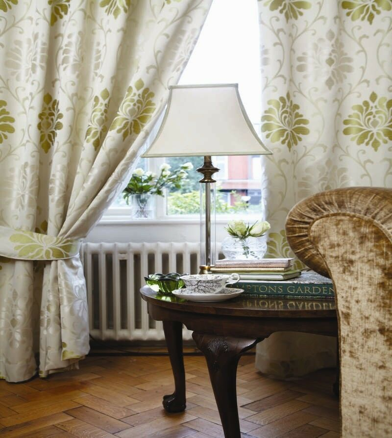 araminta pencil pleat curtains green fully lined ready. Black Bedroom Furniture Sets. Home Design Ideas