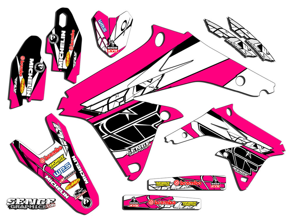 1999 2000 suzuki rm125 rm 125 graphics kit 99 00 decals deco stickers pink fly ebay. Black Bedroom Furniture Sets. Home Design Ideas
