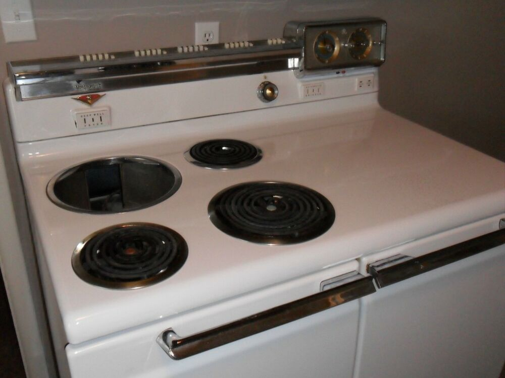 Antique General Electric Range Stoves ~ Vintage ge hotpoint electric range with deep fryer ebay