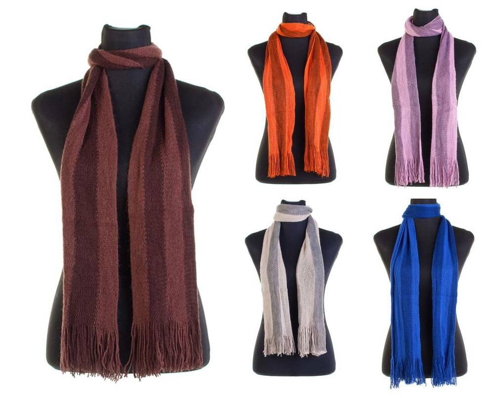 mens scarf classic soft knit winter scarf with