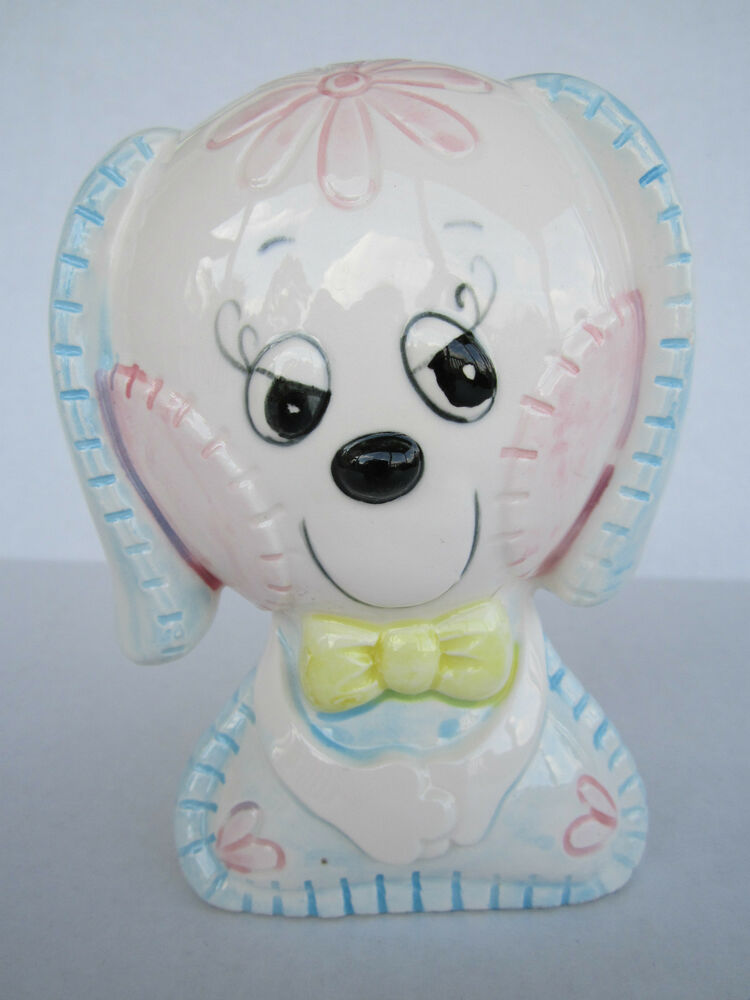 Baby Gifts From Japan : Vintage s japan baby puppy dog coin bank nursery